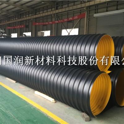 登封聚乙烯钢带波纹管 耐磨钢带螺旋管道生产厂家