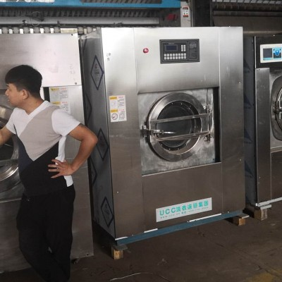 郑州出售二手力净100公斤水洗机烘干机转让驻马店二手烫平机