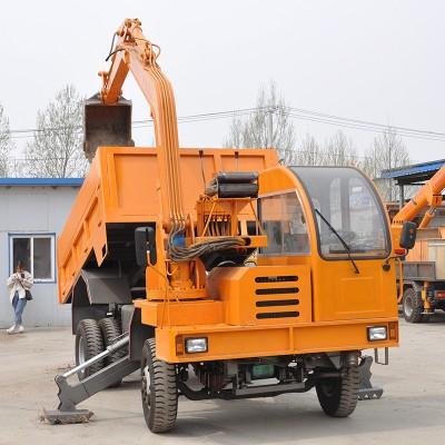 四不像随车挖厂家价格 多功能挖掘运输车 车载式挖掘机