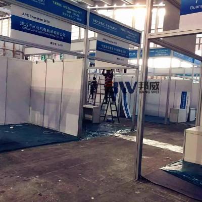 广州邦威展览铝型材搭建厂家 八棱柱展板 方柱特装