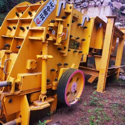 二手95新日产800吨砂石料生产线设备石料破碎机制砂机处理
