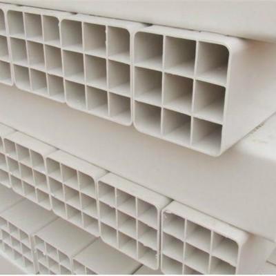 纯原料PVC九孔格栅管厂家,107*107九孔格栅管价格