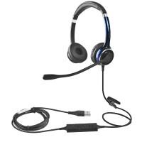 FC22USB主动降噪耳机双边头戴话务耳机USB接口电脑耳机