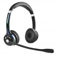 BT202双边头戴蓝牙话务耳机 主动降噪麦克风耳机